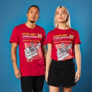Star Trek Haynes – Communicator T-Shirt – Red – XS – Red