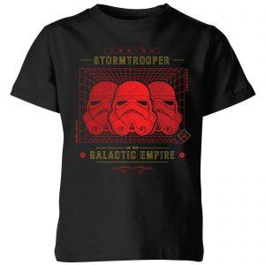 Star Wars Stormtrooper Legion Grid Kids' T-Shirt – Black – 3-4 Years – Black