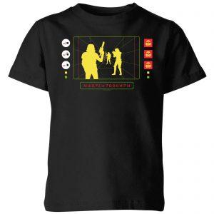 Star Wars Stormtrooper Targeting Computer Kids' T-Shirt – Black – 3-4 Years – Black