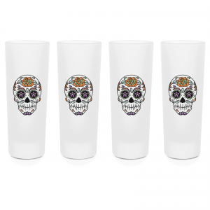 Sugar Skull Shot Glasses – Set Of 4