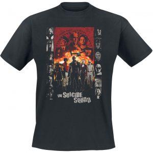 Suicide Squad 2 – Line-Up T-Shirt Black