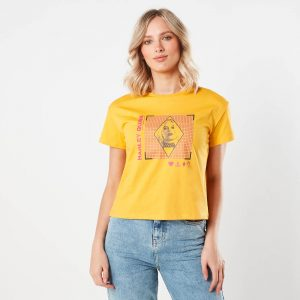 Suicide Squad Harley Quinn Women's Cropped T-Shirt – Mustard – L – Mustard
