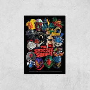 Suicide Squad Poster Giclee Art Print – A4 – Print Only