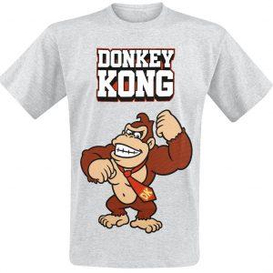 Super Mario Donkey Kong – Bricks T-Shirt Mottled Grey