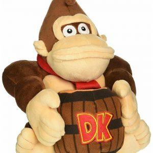 Super Mario Donkey Kong With Barrel Stuffed Figurine Multicolor