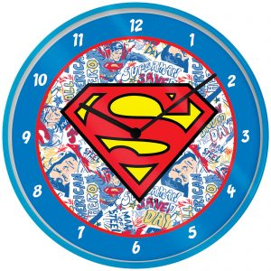 Superman Logo Clock 10 Inch