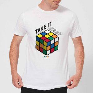 Take It Easy Rubik's Cube Men's T-Shirt – White – XS – White