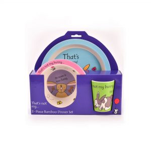 Thats Not My Bunny 3-Piece Bamboo Dinner Set