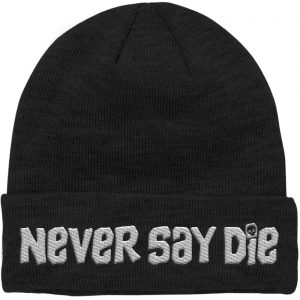 The Goonies Never Say Die Embroidered Beanie – Black