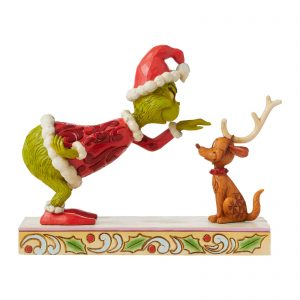 The Grinch By Jim Shore Grinch Patting Max Figurine