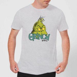 The Grinch Face Men's Christmas T-Shirt – Grey – XS – Grey