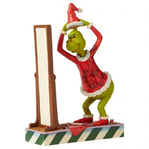 The Grinch By Jim Shore Grinch Getting Dressed In Santa Suit Figurine 22.5cm