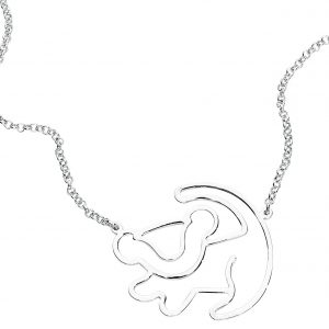 The Lion King Disney By Couture Kingdom – Simba Silhouette Necklace Multicolor