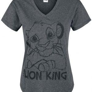 The Lion King Simba T-Shirt Mottled Dark Grey