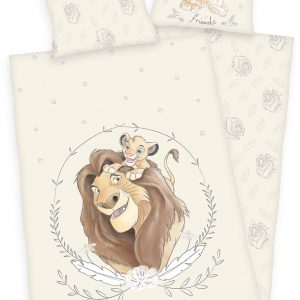 The Lion King Simba And Mufasa Bedlinen Multicolor