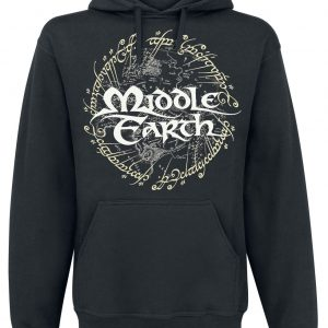 The Lord Of The Rings Middle Earth Hooded Sweater Black