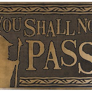 The Lord Of The Rings Shall Not Pass Door Mat Multicolour