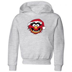 The Muppets Animal Kids' Christmas Hoodie – Grey – 3-4 Years