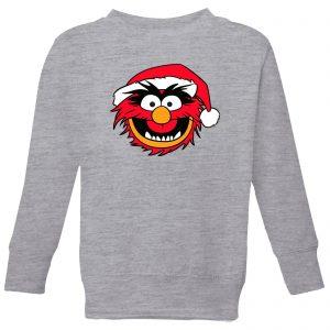 The Muppets Animal Kids' Christmas Sweatshirt – Grey – 3-4 Years – Grey