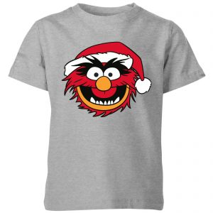 The Muppets Animal Kids' Christmas T-Shirt – Grey – 3-4 Years – Grey