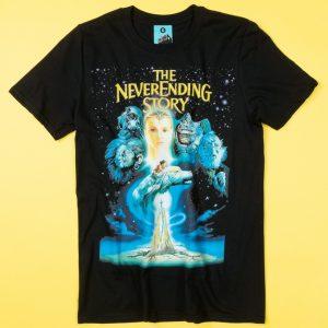 The Neverending Story Movie Poster Black T-Shirt