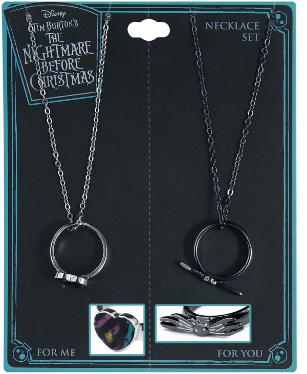 The Nightmare Before Christmas Friend Ring Necklace Set Necklace silver coloured