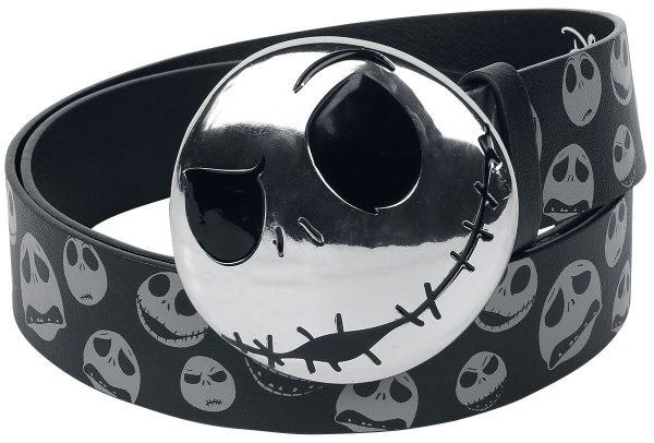 The Nightmare Before Christmas Jack Skellington Belt black grey