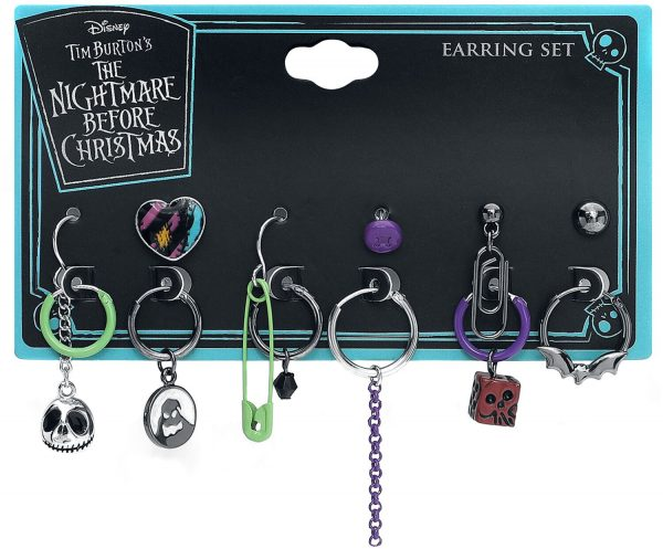 The Nightmare Before Christmas Multi Charm Mix and Match Earrings multicolour