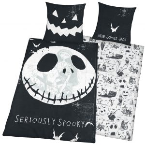 The Nightmare Before Christmas Seriously Spooky Bedlinen Black White