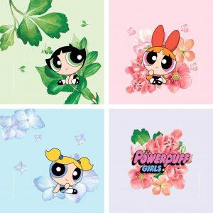 The Powerpuff Girls Floral Coaster Coaster Set