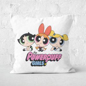 The Powerpuff Girls Pink Heart Square Cushion – 50x50cm – Soft Touch