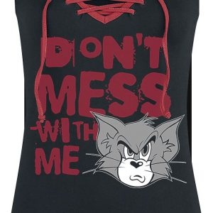 Tom And Jerry Don't Mess With Me Top Black Red