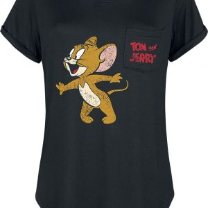 Tom And Jerry Jerry T-Shirt Black