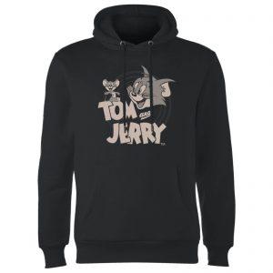 Tom & Jerry Circle Hoodie – Black – S – Black
