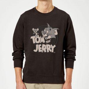 Tom & Jerry Circle Sweatshirt – Black – S – Black