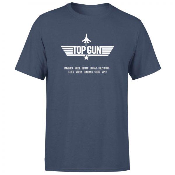 Top Gun Codenames Men's T-Shirt - Navy - XS - Navy