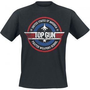 Top Gun Fighter Weapons School T-Shirt Black