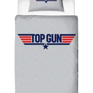 Top Gun Logo Single Duvet Cover And Pillowcase Set