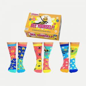 United Oddsocks Bee Yourself Socks – Pack Of 6