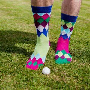 United Oddsocks Fore! Golf Socks
