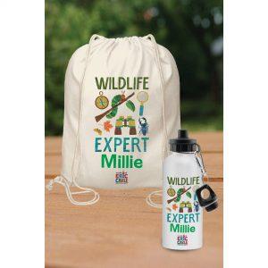 Very Hungry Caterpillar Wildlife Expert Drawstring Bag And Drinks Bottle Set