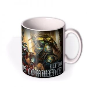 Warhammer LetThe Chaos Commence Mug By Moonpig, Gift Set – Delivery Available