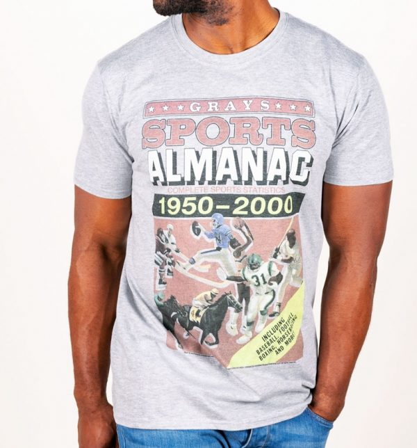 Women's Back to the Future Sports Almanac Grey Marl Fitted T-Shirt