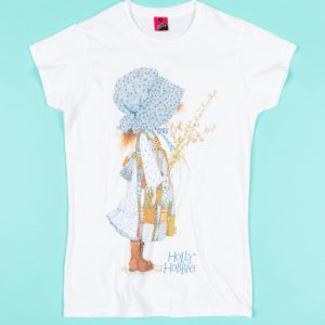Women's Classic Holly Hobbie White Fitted T-Shirt