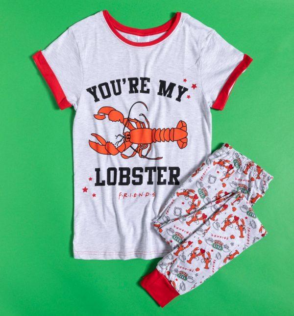 Women's Marl Grey Friends You're My Lobster Pyjamas