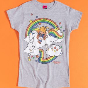 Women's Rainbow Brite Clouds Fitted T-Shirt