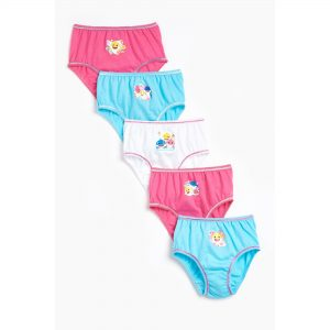 Younger Girls Baby Shark Pack Of 5 Knickers