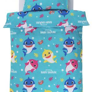 Baby Shark Kids Blue Bedding Set – Single