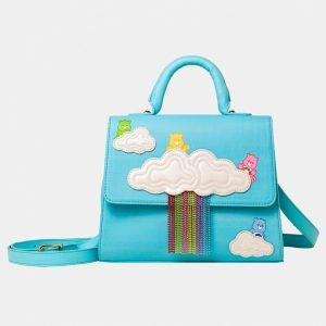 Blue Care Bears Rainbow Satchel Bag From Danielle Nicole