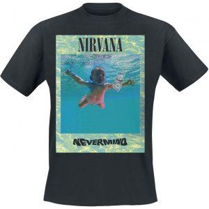 Nirvana Ripple Overlay T-Shirt Black